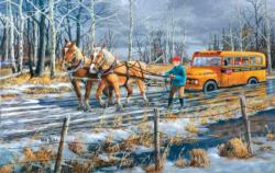 Spring Break Up Horses Jigsaw Puzzle