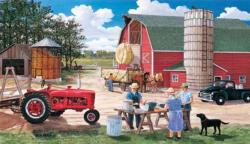 Haymakers Lunch Outdoors Jigsaw Puzzle