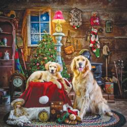 Santa's Little Helpers Dogs Jigsaw Puzzle