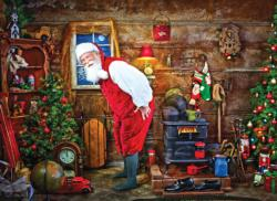 Warming Up Santa Jigsaw Puzzle