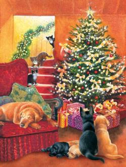 Waiting for Morning Christmas Jigsaw Puzzle