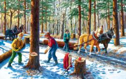 Lumberjacks Forest Jigsaw Puzzle