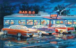Dining Out Nostalgic / Retro Jigsaw Puzzle