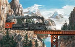 Summit Pass Trains Jigsaw Puzzle