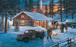 Tranquility Cottage/Cabin Jigsaw Puzzle