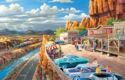 Vacationing in the USA Nostalgic / Retro Jigsaw Puzzle