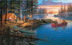Campfire Memories Lakes / Rivers / Streams Jigsaw Puzzle