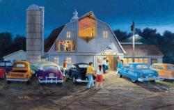 Country Barn Dance People Jigsaw Puzzle