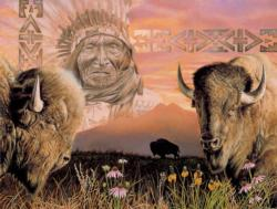Keeper of the Plains Landscape Jigsaw Puzzle