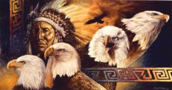 Lakota Twilight Native American Jigsaw Puzzle