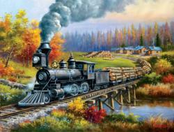 Logging Camp Run Lakes / Rivers / Streams Jigsaw Puzzle