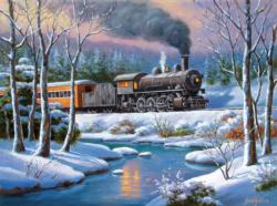 Winter Forest Express Snow Jigsaw Puzzle