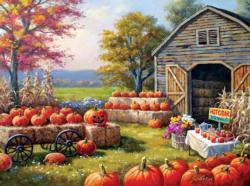 Pumpkins for Sale Farm Jigsaw Puzzle