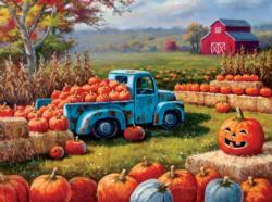 Pumpkin Farm Festival Vehicles Jigsaw Puzzle