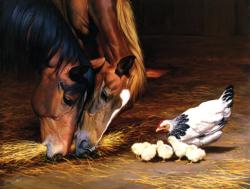 A Shared Meal Chickens & Roosters Jigsaw Puzzle