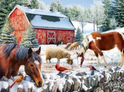 Wintering at the Farm Winter Jigsaw Puzzle