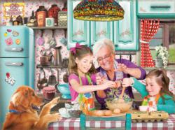 Life is Better at Grandma's Domestic Scene Jigsaw Puzzle