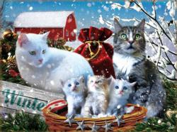 Winter Kitties Winter Jigsaw Puzzle