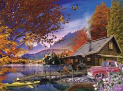 Afternoon Rest Cottage / Cabin Jigsaw Puzzle
