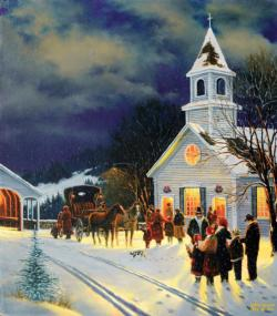Winter Worship Churches Jigsaw Puzzle