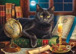 Black Cat by Candlelight Maps / Geography Jigsaw Puzzle