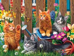 Kittens in the Garden Cats Jigsaw Puzzle