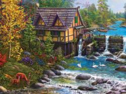 Mill by the Stream Lakes / Rivers / Streams Jigsaw Puzzle