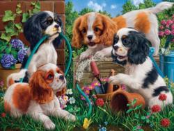 Pups in the Garden Garden Jigsaw Puzzle