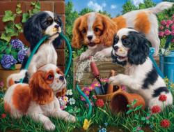 Pups in the Garden Garden Jigsaw Puzzle