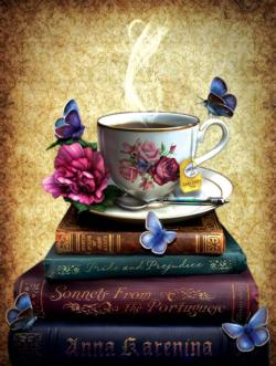 Tea and Books Food and Drink Jigsaw Puzzle