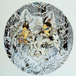 Keeper of the Wolf Native American Jigsaw Puzzle