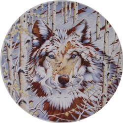 Kindred Spirits Wolves Round Jigsaw Puzzle