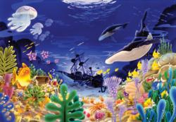 A Wrecked Ship Under The Sea Jigsaw Puzzle