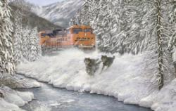 In Hot Pursuit Snow Jigsaw Puzzle