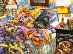 Pet Bed Domestic Scene Jigsaw Puzzle