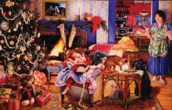 Christmas Thieves Domestic Scene Jigsaw Puzzle