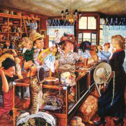 The Millinery Shop Shopping Jigsaw Puzzle