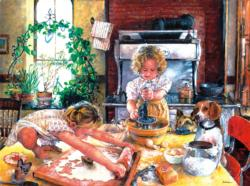 Baking Cookies Domestic Scene Jigsaw Puzzle