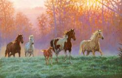 Morning Sun Horses Jigsaw Puzzle