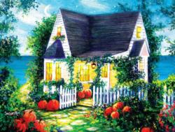 Halloween Cottage Cottage / Cabin Jigsaw Puzzle
