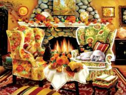 Autumn Warmth Domestic Scene Jigsaw Puzzle