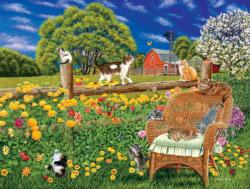 Cats, Flowers and Butterflies Flowers Jigsaw Puzzle