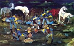 At Ease (Buffalo Soldiers) Military / Warfare Jigsaw Puzzle