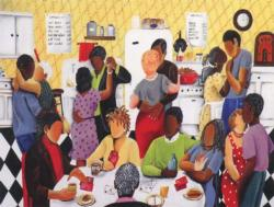 Quarter Party Domestic Scene Jigsaw Puzzle