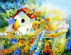 A Song for a New Day Garden Jigsaw Puzzle