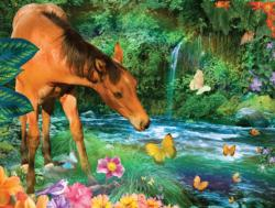 Little Brown Horse Vehicles Jigsaw Puzzle