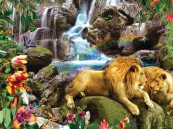 Love Lion Waterfall Waterfalls Jigsaw Puzzle