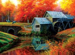 Old Mill in October Fall Jigsaw Puzzle