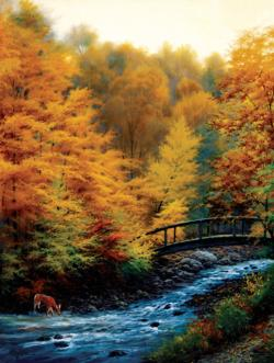 Autumn Stream Lakes / Rivers / Streams Jigsaw Puzzle