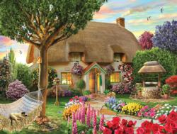 Thatched Cottage Garden Jigsaw Puzzle